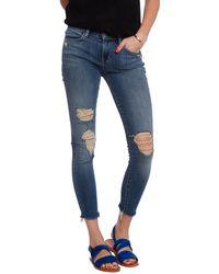 J Brand Midrise Skinny Distressed Cropped Jean - Lyst