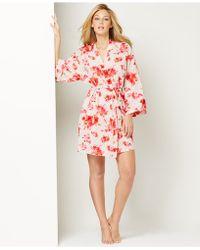 Oscar de la Renta Pink Label Floral Short Wrap - Lyst