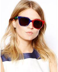 Sheriff & Cherry Sheriff&Cherry D Frame Sunglasses - Multicolor
