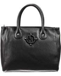 Armani Jeans Handbag Bag Ecoleather Grained Calf With Logo Shopping Small - Lyst