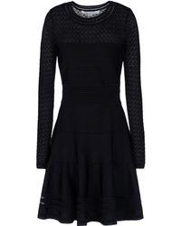 Diane Von Furstenberg Black Short Dress - Lyst