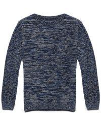 Oliver Spencer Black Fine Wool Elgin Crew Sweater blue - Lyst