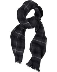 A.P.C. Checked Wool and Angora-blend Scarf - Lyst