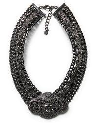 Zara Brooch Clasp Necklace - Lyst