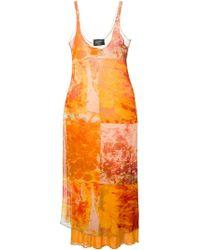 Jean Paul Gaultier Oil Blotch-Print Crepe Dress - Lyst