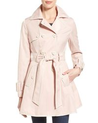 Betsey Johnson - Piped Double Breasted Trench Coat - Lyst