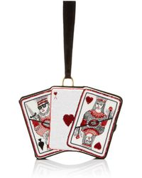 Olympia Le-Tan Embroidered Queen Of Hearts Bag - Lyst