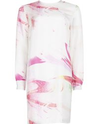 Matthew Williamson Marble Rainbow Silk Shift Dress - Lyst