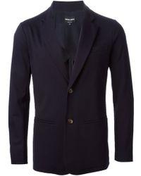 Giorgio Armani Two Button Jacket blue - Lyst