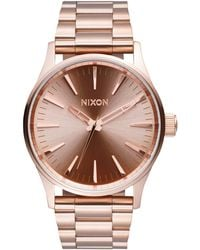Nixon - A450-897 Women's Sentry 38 Ss Bracelet Strap Watch - Lyst