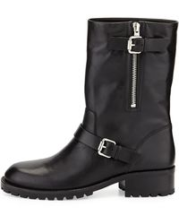 Vc Signature Riona Leather Moto Boot - Lyst