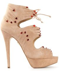 Charlotte Olympia Hands On Booties - Lyst