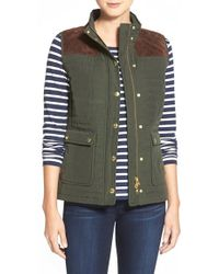 Vineyard Vines - Suede Quilted-Yoke Vest - Lyst