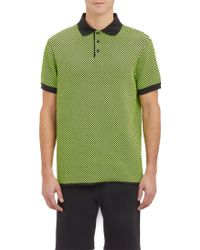 Christopher Kane Checkerboard Compact Knit Polo Shirt - Lyst