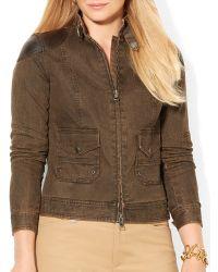 Ralph Lauren Lauren Plus Denim Jacket - Lyst