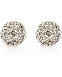River Island Gold Tone Encrusted Stud Earrings - Lyst