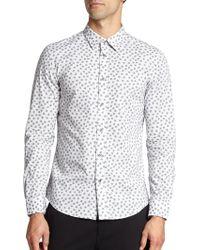 Diesel Stretch Cotton Skull-Print Sportshirt white - Lyst
