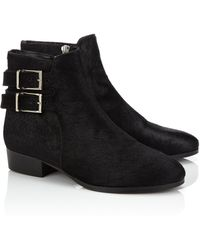 Surface To Air Black Leather Buckled Drew Boots - Lyst