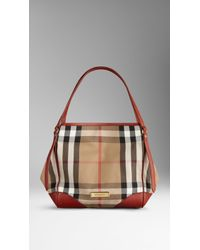 Burberry Small Sartorial House Check Tote Bag - Lyst