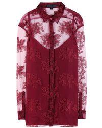 Burberry Prorsum Pink Lace Shirt - Lyst