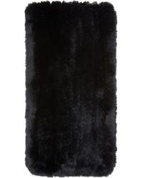 Meteo by Yves Salomon - Black Knit Rabbit Fur Scarf - Lyst