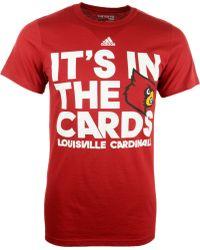 Adidas Mens Louisville Cardinals Motto T-shirt - Lyst
