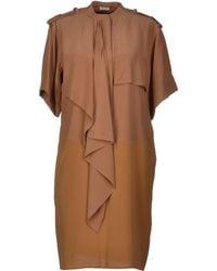 Celine Brown Short Dress - Lyst