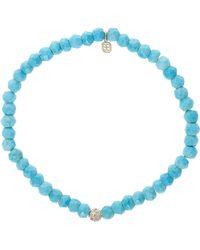 Sydney Evan Turquoise Pave Ball Bracelet - Lyst