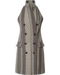 Peter Som - Chevron Stripe Wool Vest - Lyst