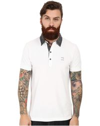 Diesel White T-Antho Polo - Lyst