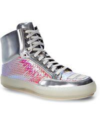 Alejandro Ingelmo Silver Jeddi High-Top Sneakers - Metallic