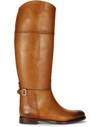 Ralph Lauren Calfskin Sallen Riding Boot - Lyst