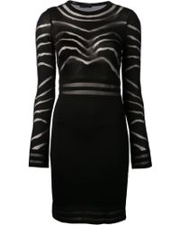 Balmain Fitted Dress - Lyst