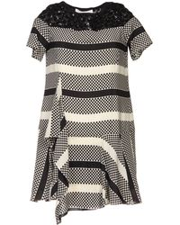 Thakoon Addition Gray Short Dress - Lyst