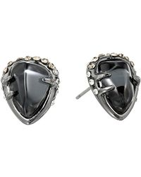 Alexis Bittar Encrusted Stud W Fancy Hematite and Crystal Glass Doublet - Lyst