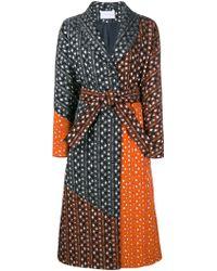 OSMAN | Embroidered Jacquard Coat | Lyst