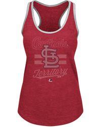 Majestic Women'S St. Louis Cardinals Tank Top - Lyst