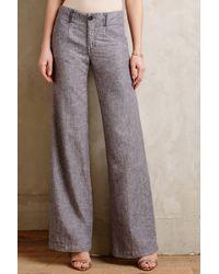 Pilcro Linen Trousers - Lyst