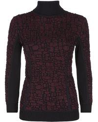 Nina Ricci Croc Textured Roll Neck Sweater - Lyst