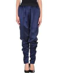 Celine Blue Casual Trouser - Lyst