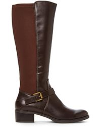 Franco Sarto Brown Council Riding Boots - Lyst