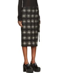 Damir Doma Grey and Black Plaid Wrap Radian Skirt - Lyst