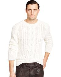 Ralph Lauren Hand-Knit Cabled Linen Sweater - Lyst