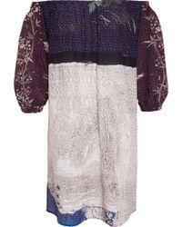 By Walid Sunny Print Silk Dress - Multicolour