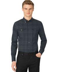 Calvin Klein Endonend Plaid Slimfit Shirt - Lyst