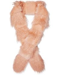 Shrimps - Marnie Faux Fur And Shearling Scarf - Lyst