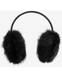 Ted Baker Faux Fur Ear Muffs - Black