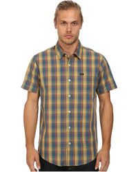 RVCA Squall S/S Woven - Lyst