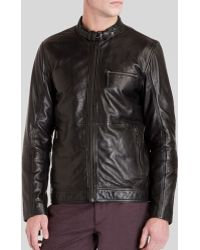 Ted Baker - Visery Leather Jacket - Lyst
