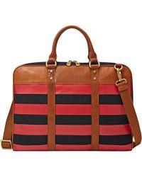 Fossil Estate Twill Document Bag - Red